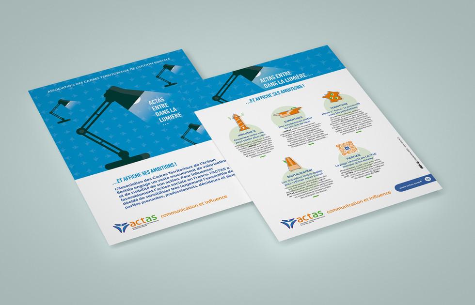 Flyer stratégie de communication ACTAS