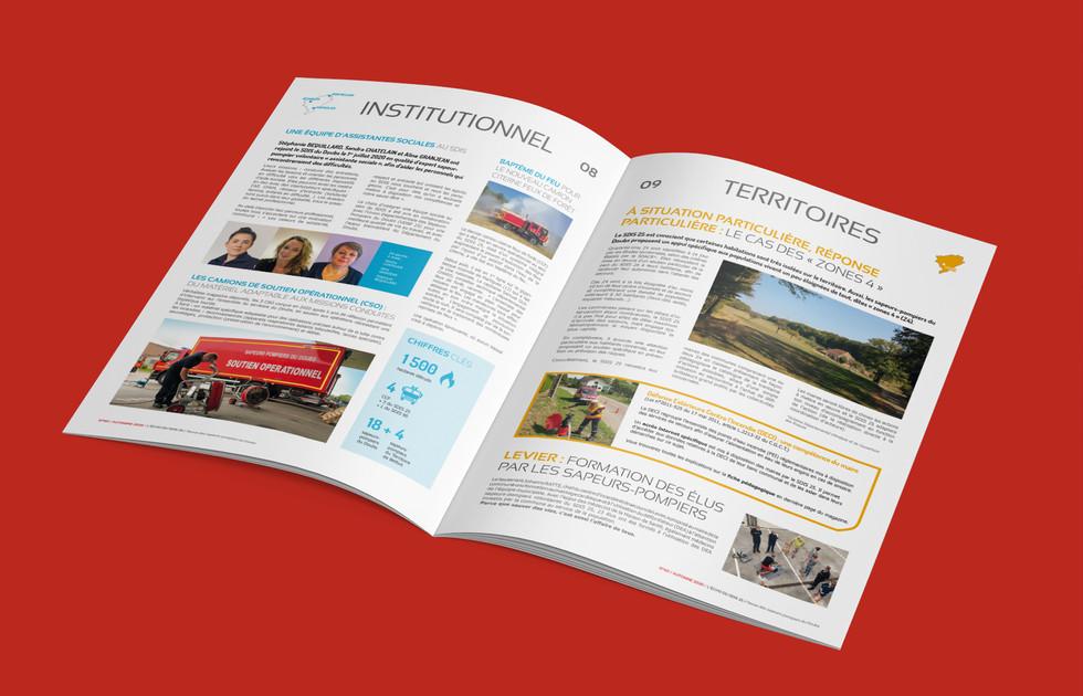 Magazine du SDIS25 double page