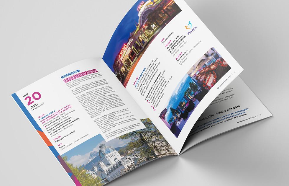 Brochure 42es Rencontres de l'ACTAS action sociale - Évian-les-Bains