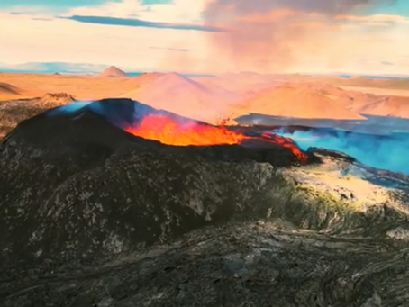 Ethan Shows Off Drone Pilot Skills over Volcano