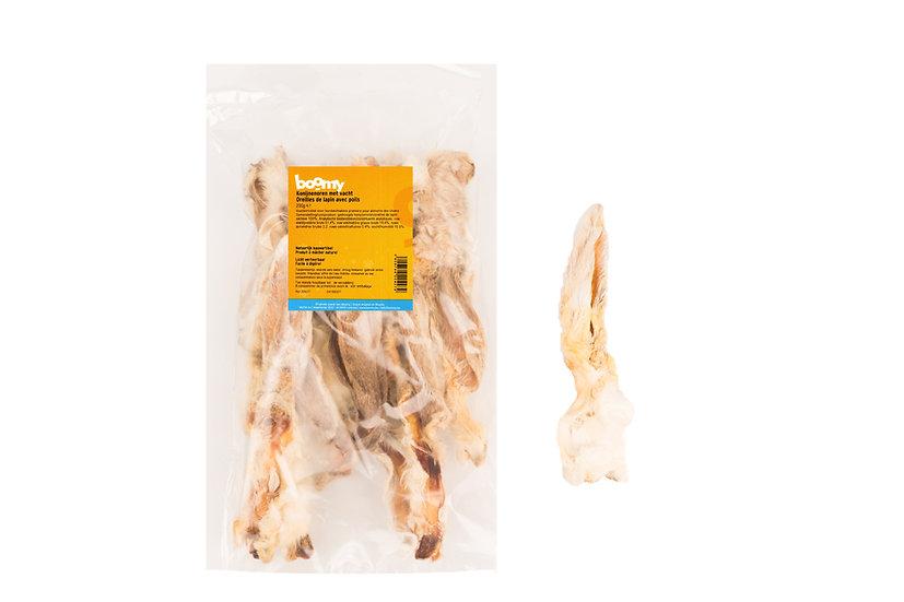 Oreilles de lapin avec poils 200gr