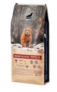 Wolfood high meat cat & kitten 10kg