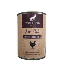 Wolfood patée pour chats 6x400g