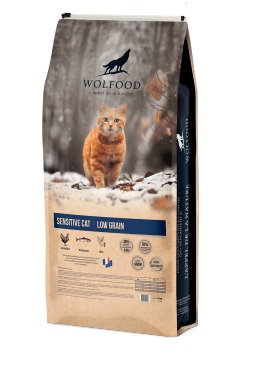 Wolfood sensitive cat low grain 3kg
