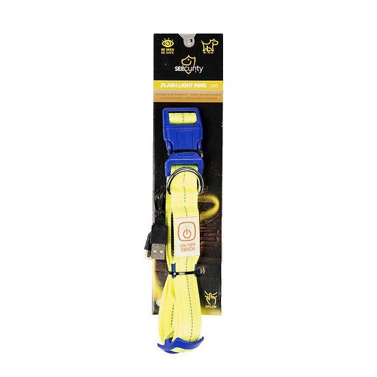 Collier lumineux jaune fluo