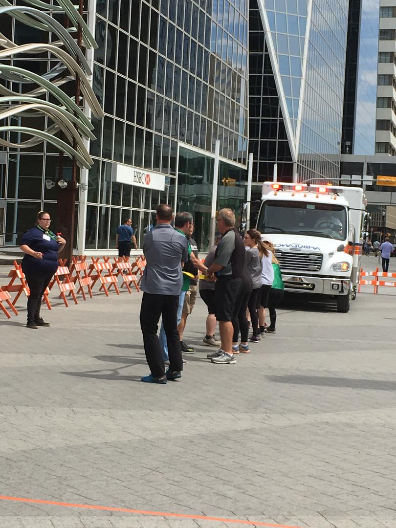 Ambulance Pull for United Way