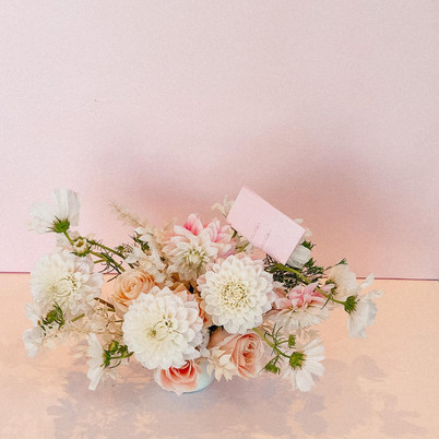Light pinks and whites