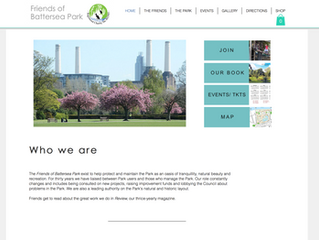 My new website for 'Friends of Battersea Park' ....