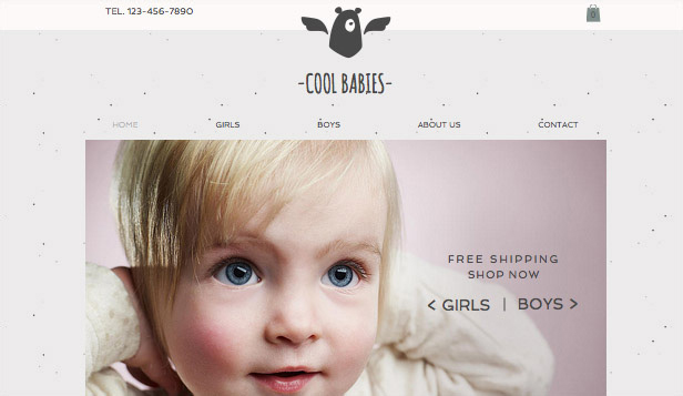 Fashion & Accessories website templates – Little Layette