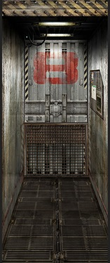 Freight Elevator Door Impression