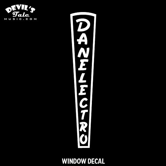 Danelectro Window Decal
