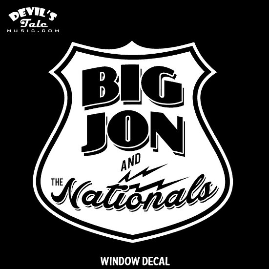 """Big Jon"" Atkinson and Nationals Window Decal"