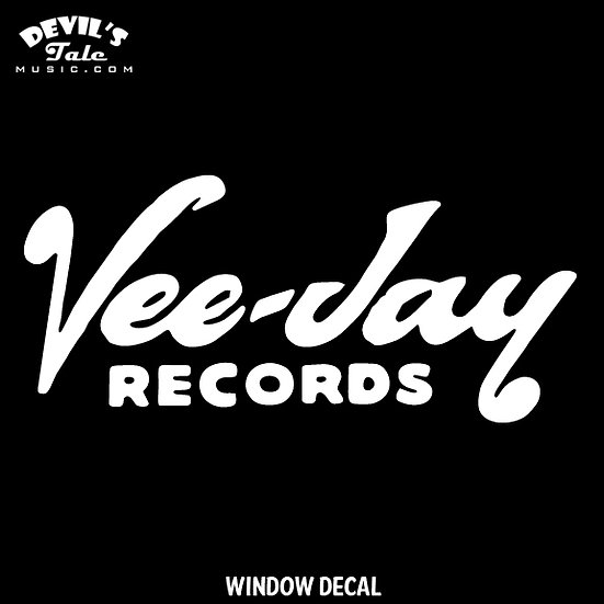 Vee Jay Records Window Decal