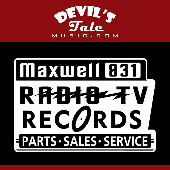 "Maxwell Radio Decal: 4.5""x6.75"" (approx)"