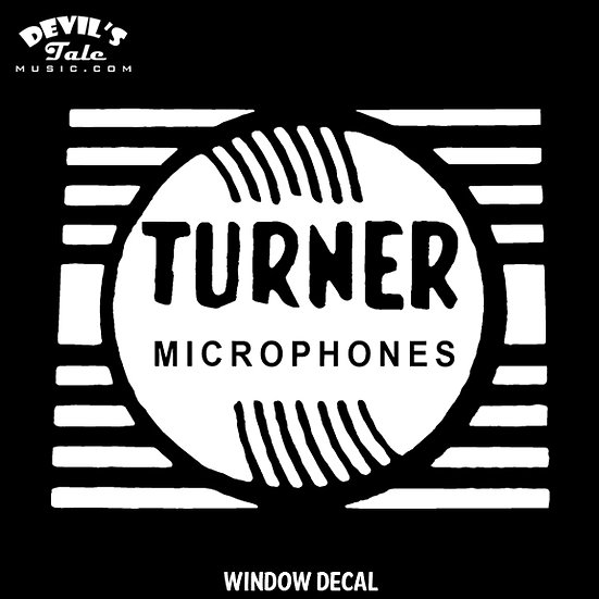 Turner Microphones Window Decal