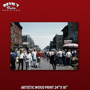 """Maxwell Street / Maxwell Radio Print on 1/4"""" Plywood - 8""""x10"""""""