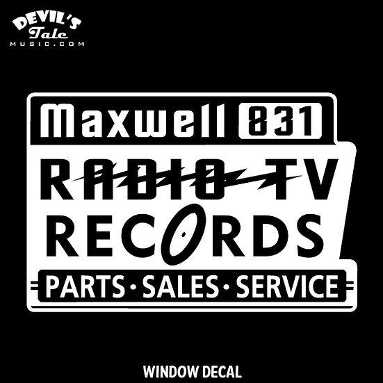 Maxwell Radio / Ora Nelle Window Decal