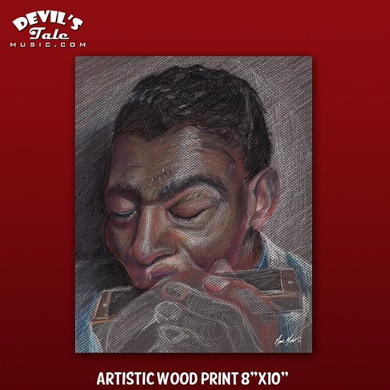 "Little Walter Print on 1/4"" Plywood - 8""x10"""