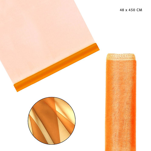 CLASSIC ORGANZA TUCH 48X450CM ORANGE