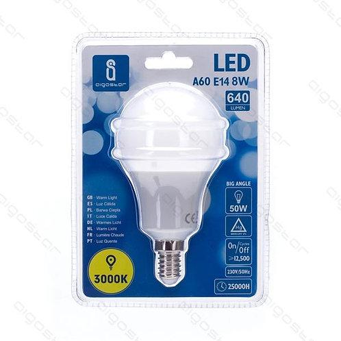 AIGOSTAR LED LAMPE A60 E14 8W WARM