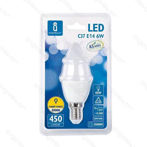 AIGOSTAR LED LAMPE E14 6W C37 WARM