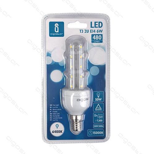 AIGOSTAR LED LAMPE T3 2U E14 6W KALT