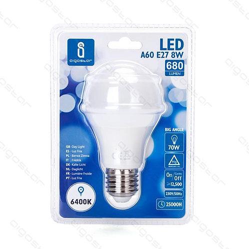AIGOSTAR LED LAMPE 8W A60 E27 KALT