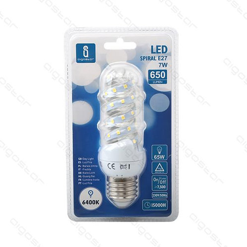 AIGOSTAR LED SPIRAL E27 7W KALT