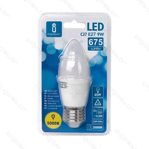 AIGOSTAR LED LAMPE C37 E27 9W WARM