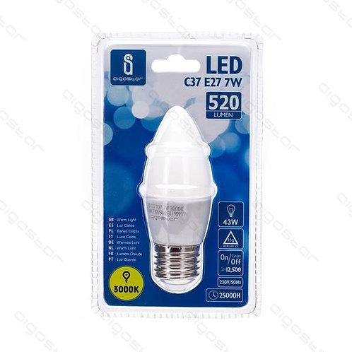 AIGOSTAR LED E27 7W C37 WARM