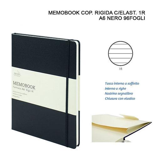 MEMOBOOK A6 96 Blätter 1R Schwarz