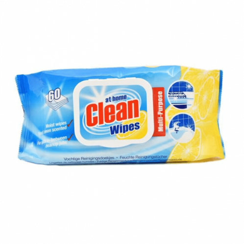 AT HOME CLEAN MULTI CLEANING WIPES 60PCS