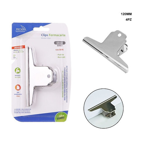 CLIPS SILVER 120MM