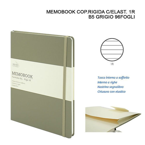 MEMOBOOK B5 96 Blätter 1R Ocker Grün