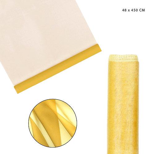 CLASSIC ORGANZA TUCH 48X450CM GOLD