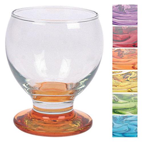 GLASS CORAL SHOT GLASS