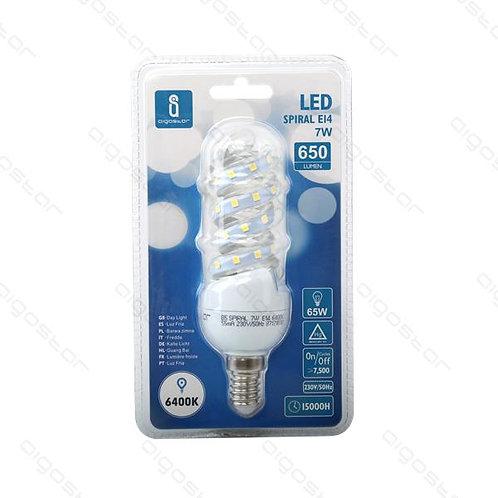AIGOSTAR LED SPIRAL E14 7W KALT