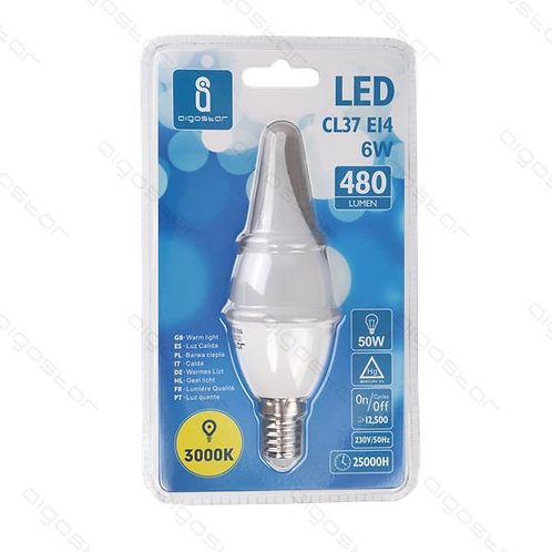 AIGOSTAR LED CL37 E14 6W WARM