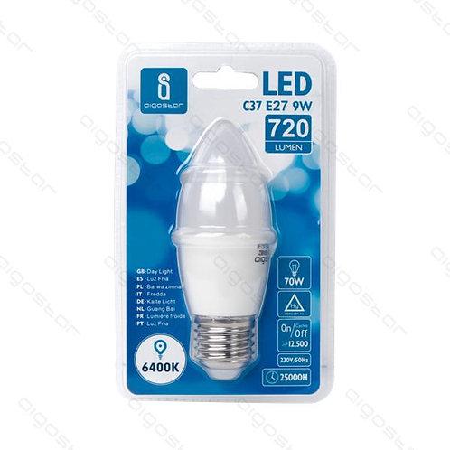 AIGOSTAR LED LAMPE E27 9W C37 KATL