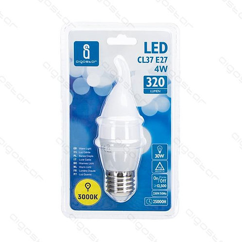 AIGOSTAR LED LAMPE CL37 E27 4W WARM