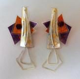 Retrangle dangle earrings price guide £56