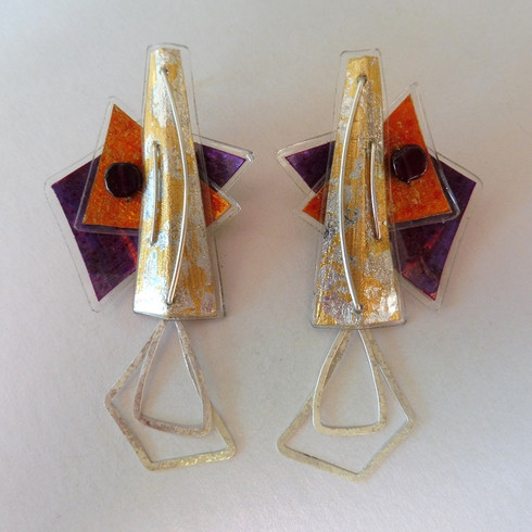 Retrangle dangle earrings, price guide £56