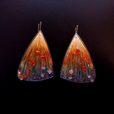 orange firework earrings price guide £46