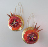 Pomegranate earrings price guide £64