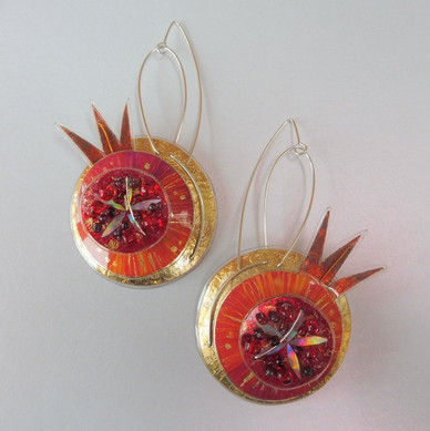 Pomegranate earrings.  price guide £64.