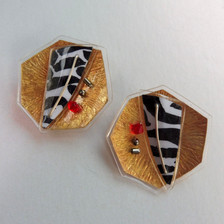 Eclectic Monochrome stud earrings, price guide £42.