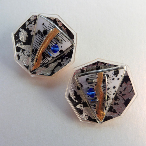 Eclectic Monochrome stud earrings, price guide £42