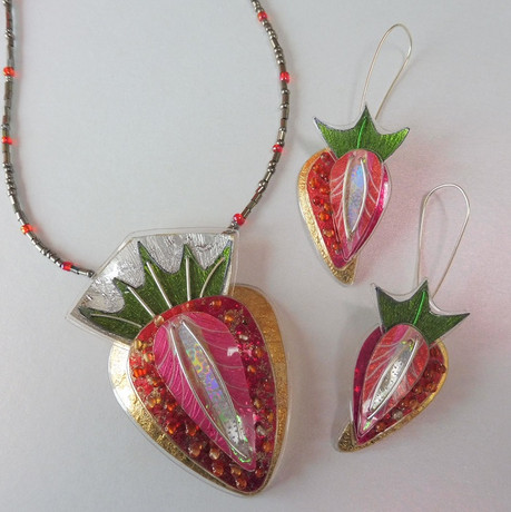 strawberry jewellery. Price guide £54- £62.