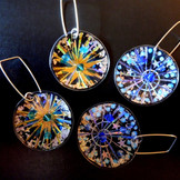 firework round earrings price guide £40