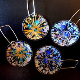 fireworks round earrings, price guide £40